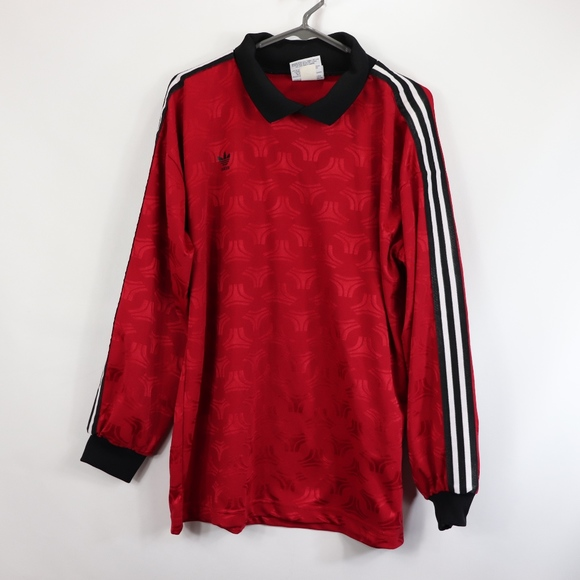 lower price with fresh styles wide varieties adidas goalkeeper jersey red ...